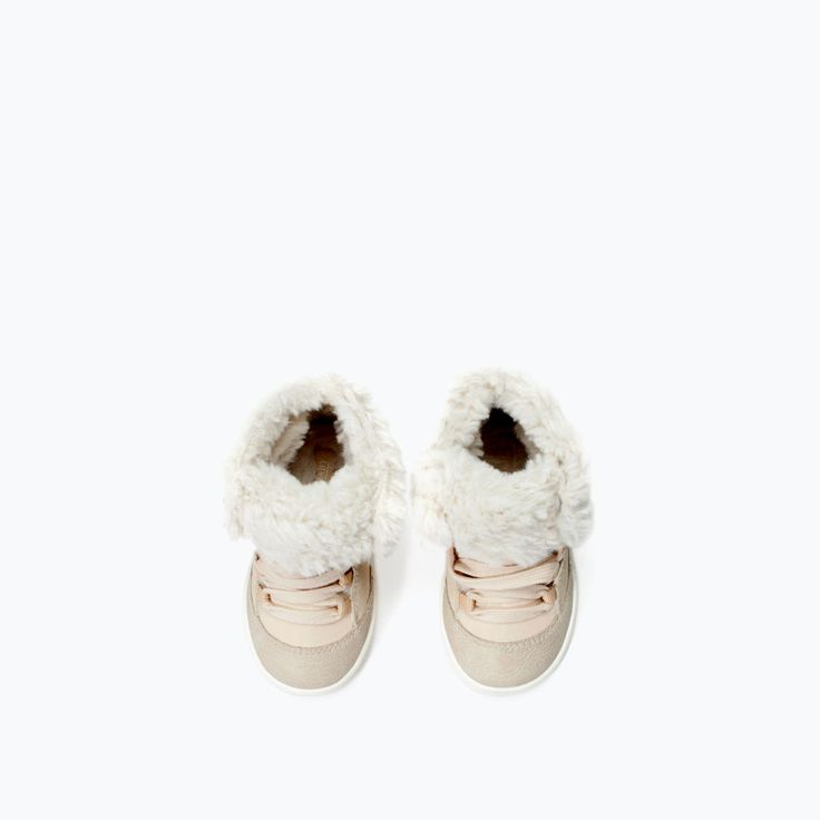 ZARA - SHOES & BAGS - FUR-LINED WINTER HIGH-TOPS