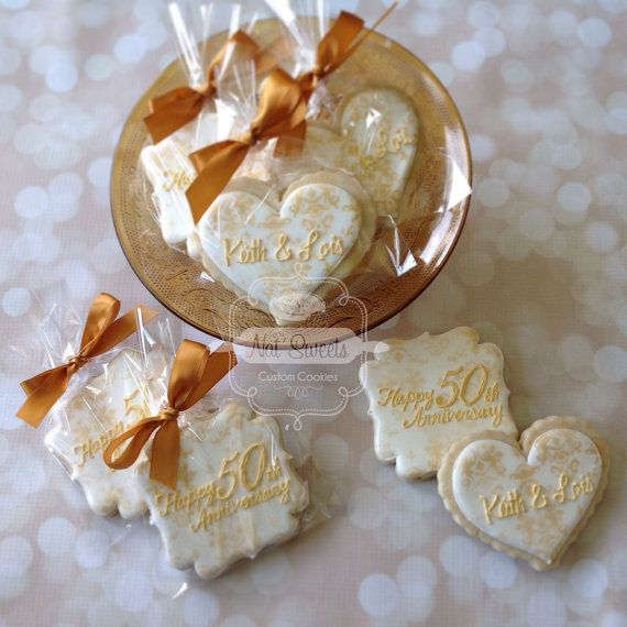 2 Dozen 50th Anniversary Cookies by NatSweetsCookies on Etsy
