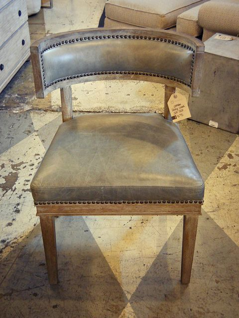 Carter Leather/Nailhead Chair | Flickr - Photo Sharing! $575.00