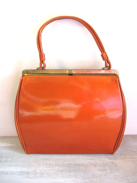 Vintage Copper Colored Handbag // 50s 60s // Mad by All4MyBelle, $27.99