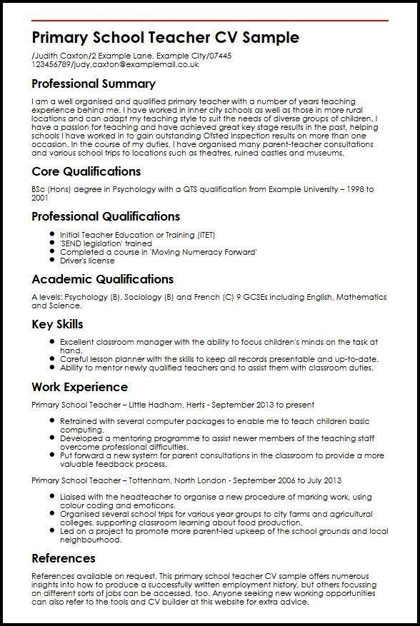 Pin By Fleta Mountain Resume Tips On Resume Examples Teacher Resume Template Teaching Resume Teacher Cv Template