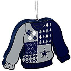 Dallas Cowboys Official NFL 5.5 inch Foam Ugly Sweater Christmas Ornament by Forever Collectibles 239678