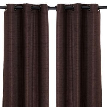 Chocolate Brown Curtain Panels - Curtains Design Gallery
