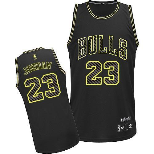 Men's Michael Jordan Authentic Black Jersey: Adidas #23 NBA Chicago Bulls  Electricity Fashion