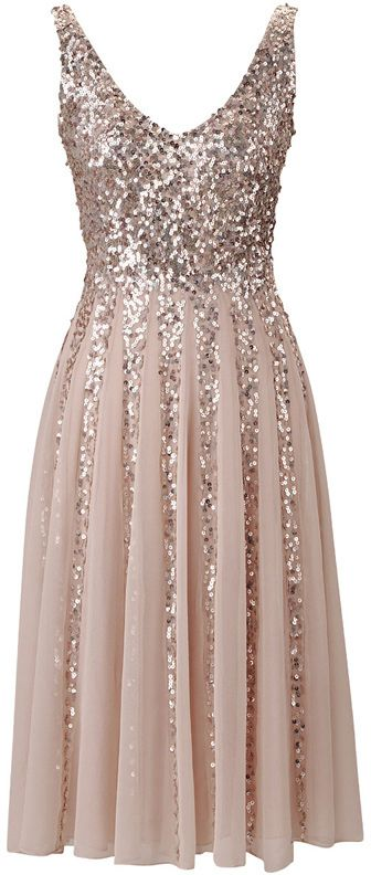 Gorgeous Blush V Neck Tulle Bridesmaid Dress With Sequins