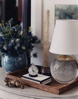 pretty vignette -- Terri Lamp by Thomas O'Brien for Visual Comfort & Co.