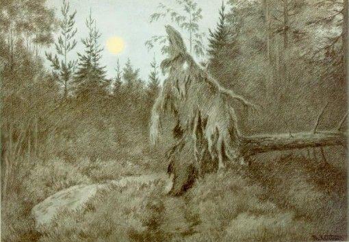 Det rusler og tusler rasler og tasler, 1900 (Creepy, Crawly, Rustling, Bustling) by Theodor Kittelsen