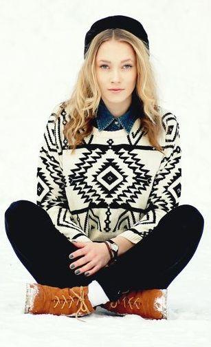 Tribal sweater