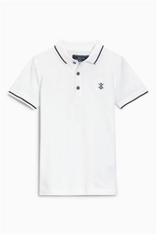White Piqué Poloshirt (3-16yrs)