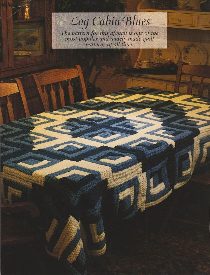 9 Best Images About Crochet Log Cabin Afghans On Pinterest
