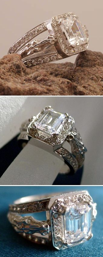 Horse head design on this classic engagement ring | EquiSearch