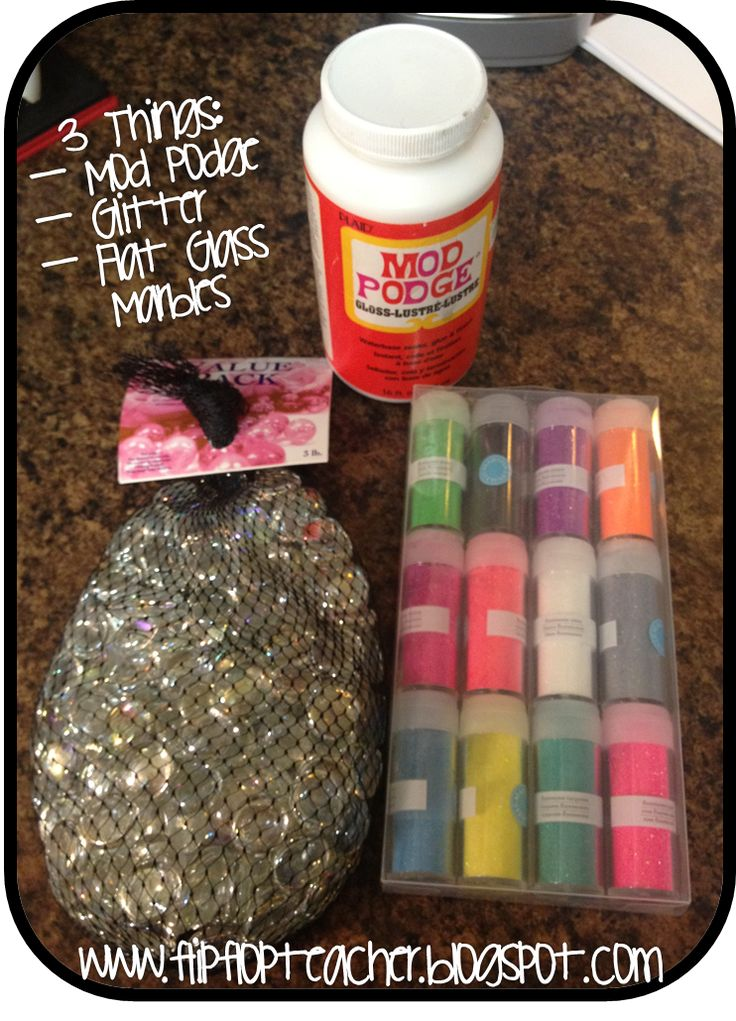 Glitter marble magnets!