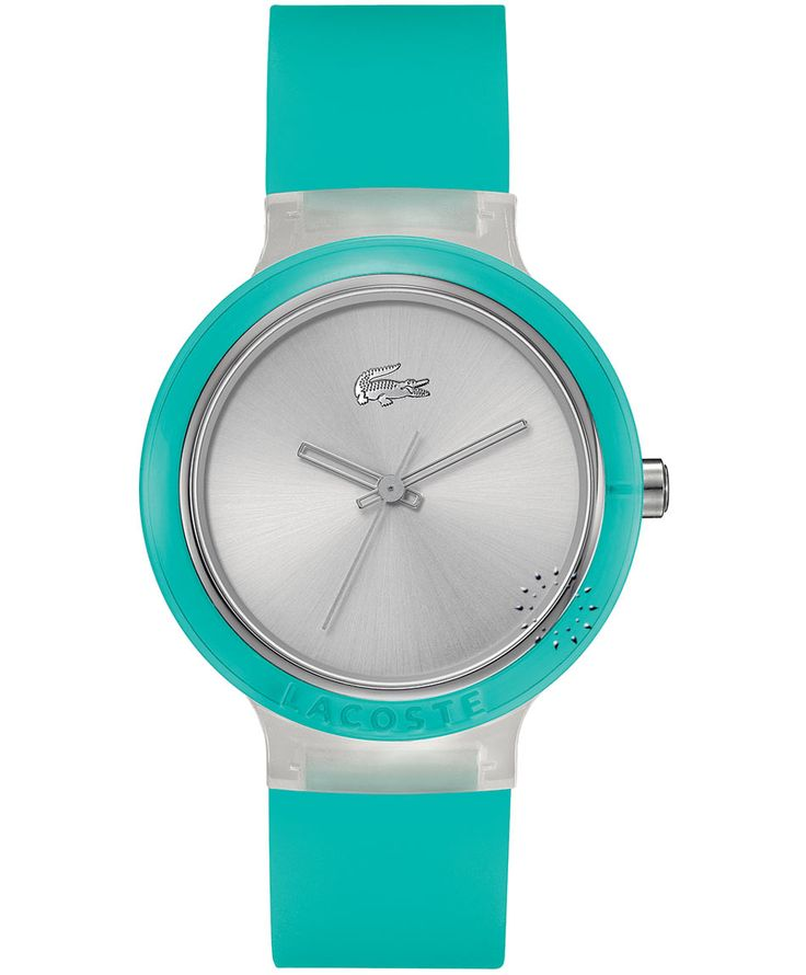 LACOSTE GOA Turquoise Rubber Strap Η τιμή μας: 69€ http://www.oroloi.gr/product_info.php?products_id=35417