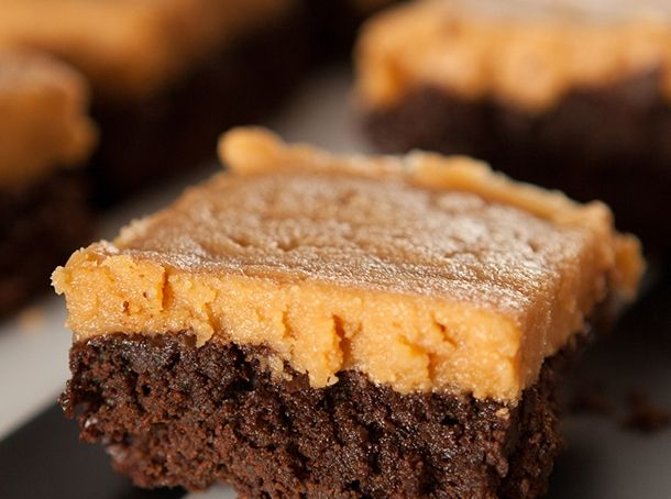 Chocolate Spinach Brownies with Peanut Butter Frosting | Brooklyn Farm Girl