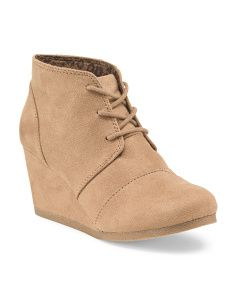 image of Lace Up Wedge Bootie