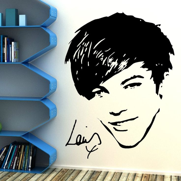 ONE DIRECTION Louis Tomlinson 1D Vinyl wall art sticker BEDROOM Removable Wall stickers cuisine Mural Wallpaper D408 #Affiliate
