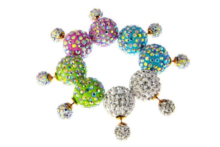 Nausnice oboustranne s krystalky 159 Kc www.sperkymoda.cz #sperkymoda #fashion #sperky #jewellery #jewelry #fashionjewellery #bizu #earrings #moda #czech