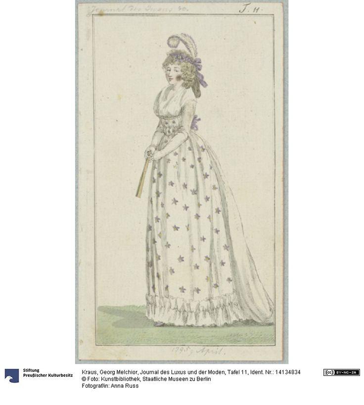 SMB-digital | Journal des Luxus und der Moden, Tafel 11, April 1795.