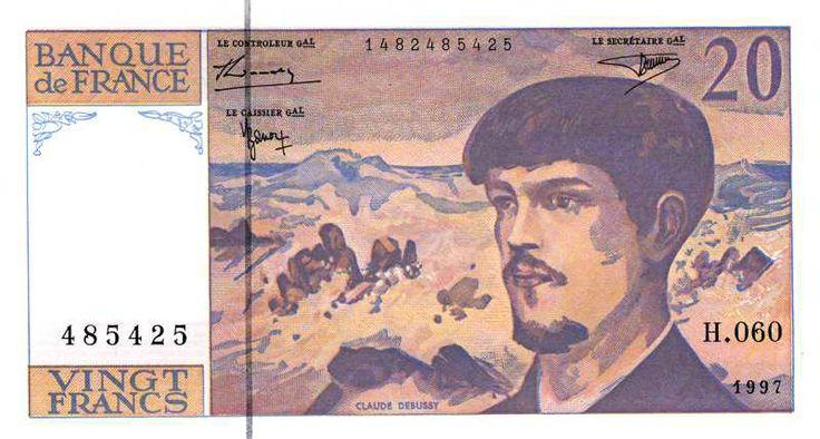 Collection Billet Banque de France - F.66b - 20 francs Debussy - avec fil de sécurité