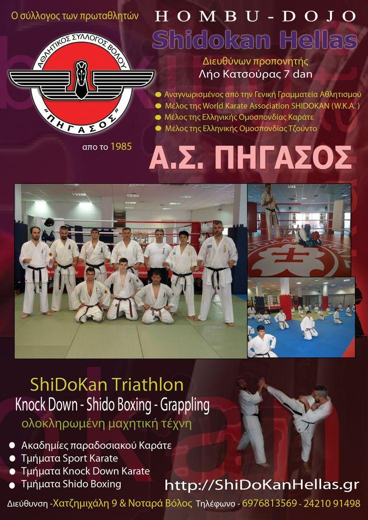 ShiDoKan Hellas ΚΑΡΑΤΕ ΒΟΛΟΣ Kick Boxing Grappling >Shidokan Hellas >ΝΕΑ ΤΟΥ SHIDOKAN KARATE >ΠΡΟΓΡΑΜΜΑ ΠΡΟΠΟΝΗΣΕΩΝ Α.Σ.ΒΟΛΟΥ ΠΗΓΑΣΟΣ 2014-15 / http://shidokanhellas.gr