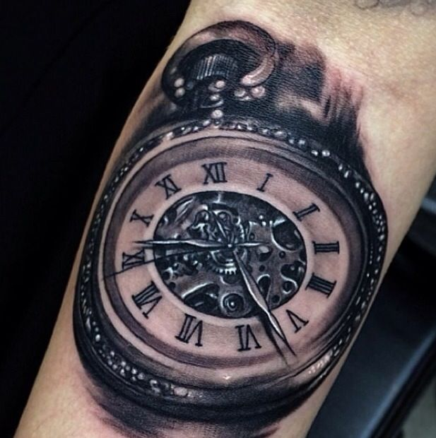76 best uhr images on pinterest tattoo ideas clock for Time piece tattoos