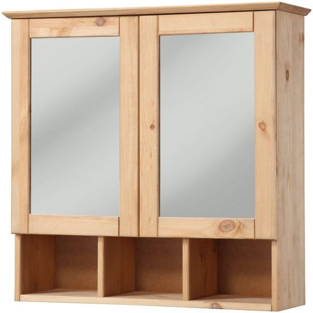 Welltime Spiegelschrank Landhaus Sylt Breite 60 Cm Online Kaufen Spiegelschrank Bad Holz Spiegelschrank Holz