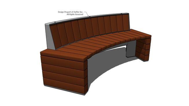 Visualização grande do modelo 3D de 278-72I Curved Bench