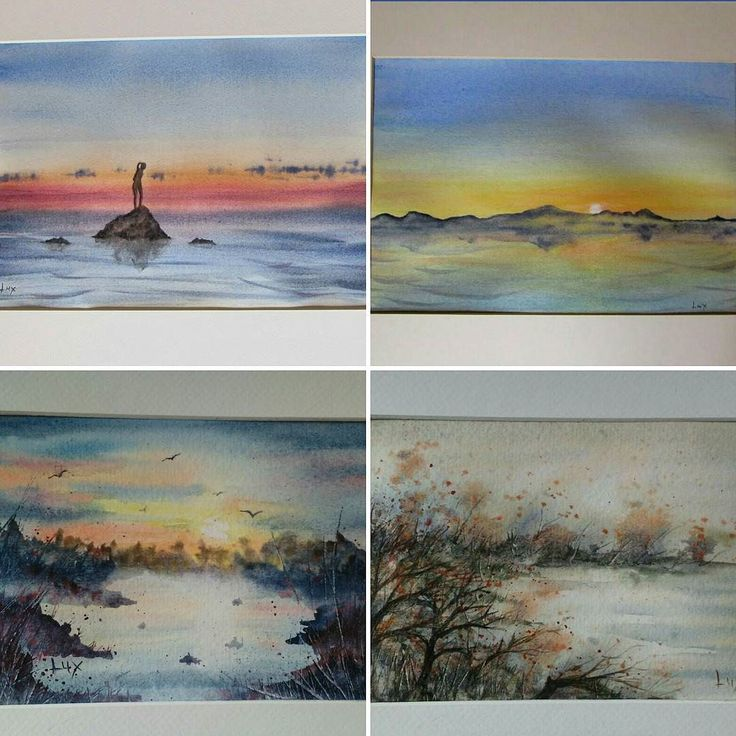 Ebay shop in bio  #watercolorpainting #watercolours #watercolor #watercolour #watercolors #artisticcommunity #artistic_share #paint #painting #art #artist #artistic #paintings #seascape #seascapes #sunset #sunsets #sunset_madness #sunsetlovers #inspiring_watercolors #sketch #drawing #water #acquerellarte #arts