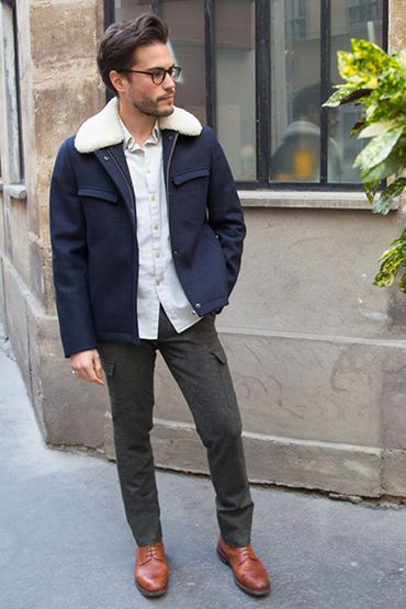 Pantalon cargo en flanelle de laine Vitale Barberis Canonico