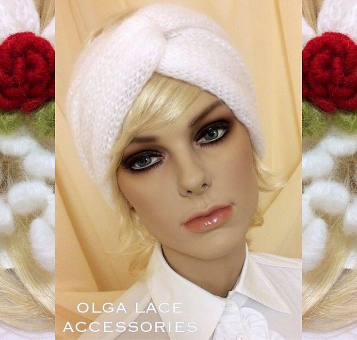 Купить Вязаная повязка - чалма от Olga Lace - Вязаная повязка, повязка на голову, повязка чалма