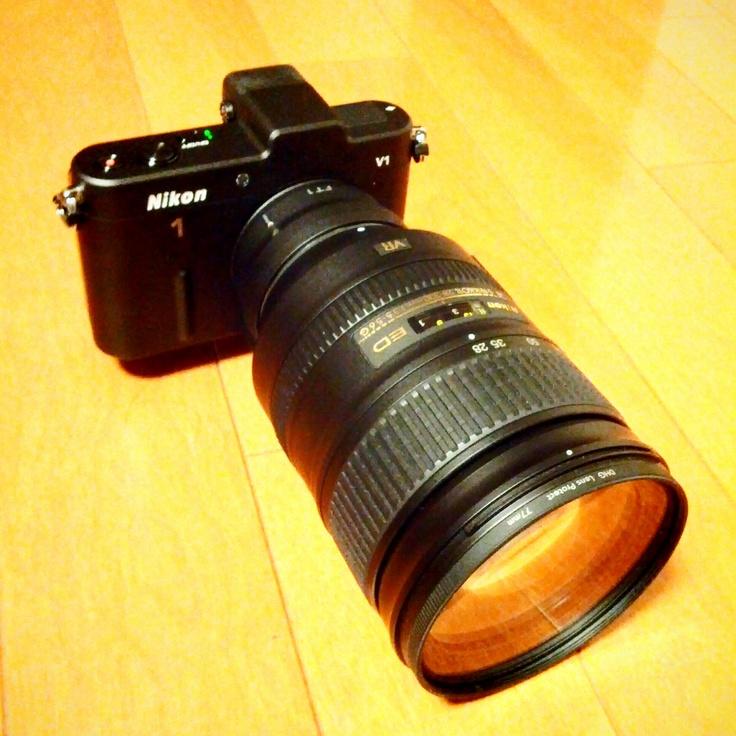 Nikon 1 V1 with 70mm-810mm Zoom Lens;-p