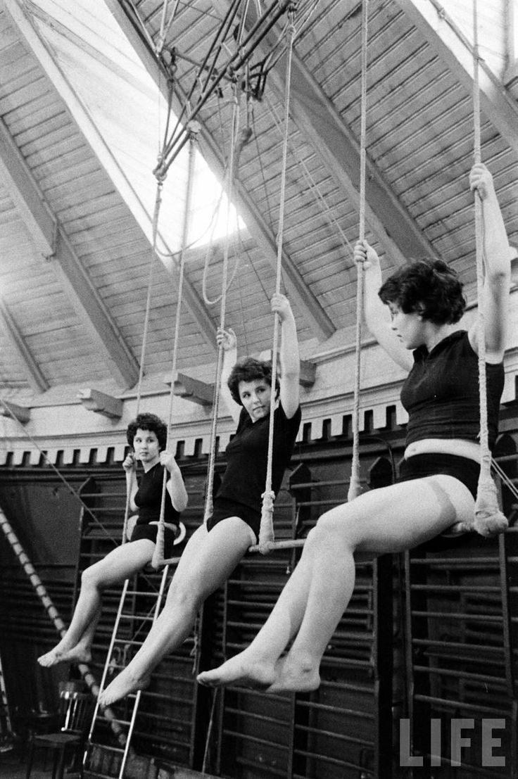 """Moscow Circus School"" series, 1958 by Howard Sochurek"