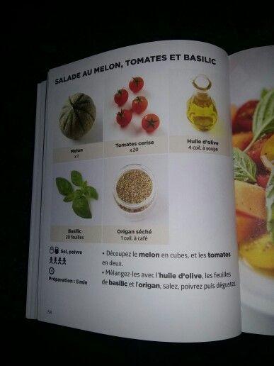 Salade melon saumon