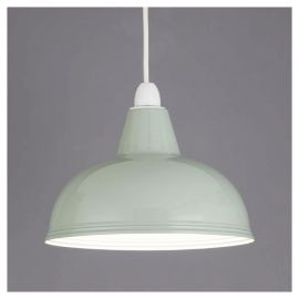 Buy Thorpness Small Metal Pendant Shade, Sage Green from our Pendant Lighting range - Tesco.com
