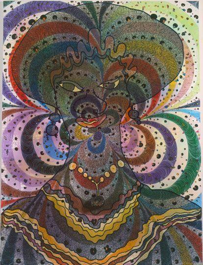 Afroco She, 1997, Chris Ofili