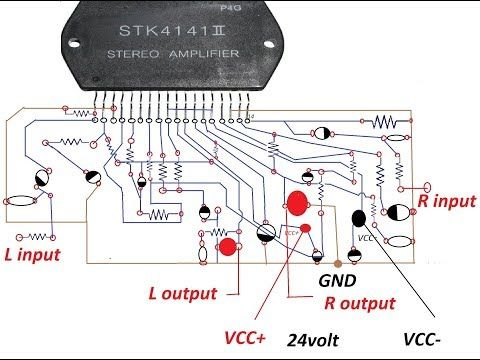 how to make an amplifier 200 watts using stk4141 with diagram rh pinterest com