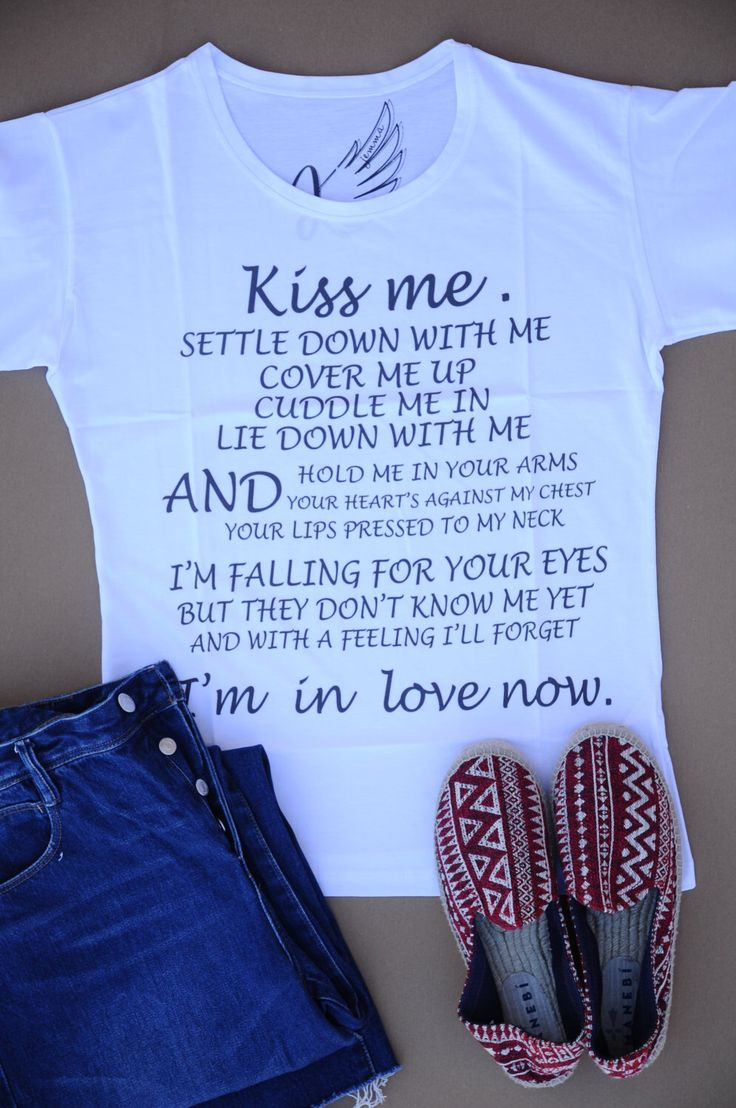 A personal favourite from my Etsy shop https://www.etsy.com/listing/448781450/cotton-printed-t-shirt-kiss-me