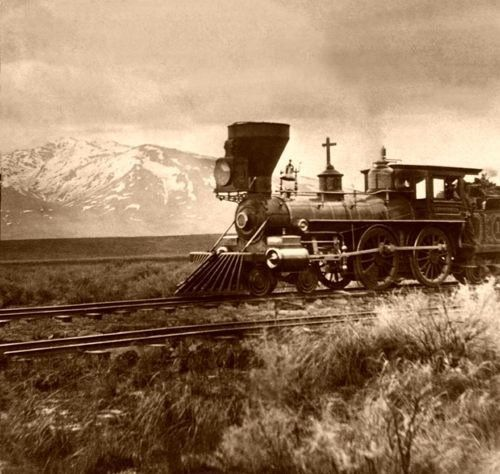Central Pacific Railroad near Salt Lake City, Utah around 1869