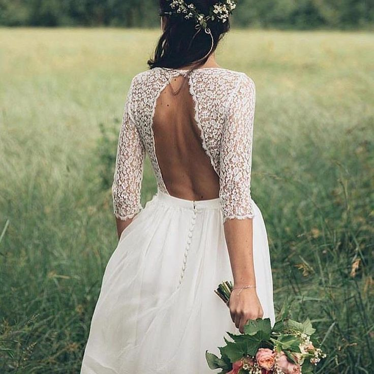 """3,520 Likes, 36 Comments - Boho Wedding Ideas (@huesofvintage) on Instagram: """"A one button almost backless dress. Get used to being called wifey by your hubby in this dress. New…"""""""