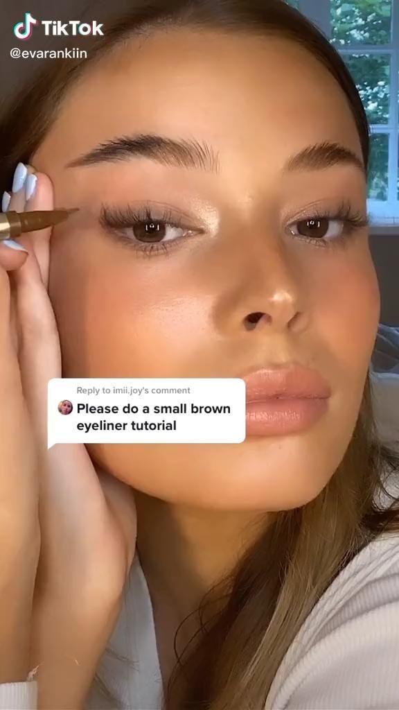 Eyeliner Tutorial Tik Tok Products Monitor Monitor Video Production Eye Makeup Natural Makeup Eye Makeup Tutorial