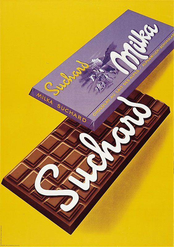 chocolat Suchard Milka - 1957 - (Bütschi Albert) -