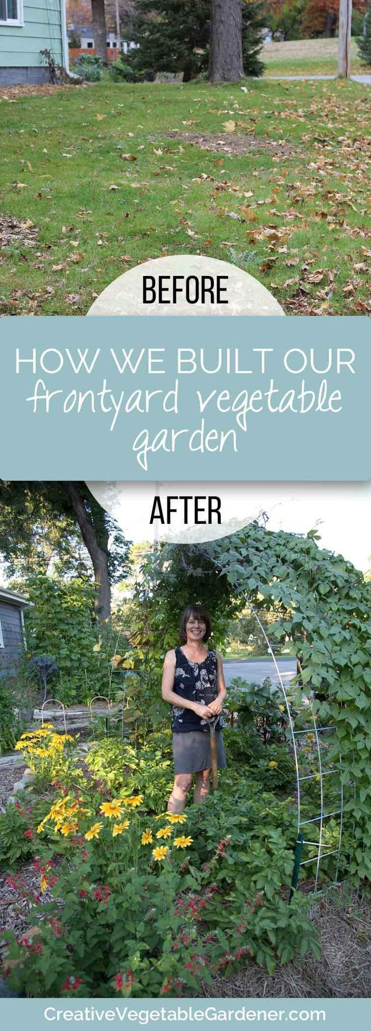how we turned our boring front yard into a vegetable garden bursting with good food and