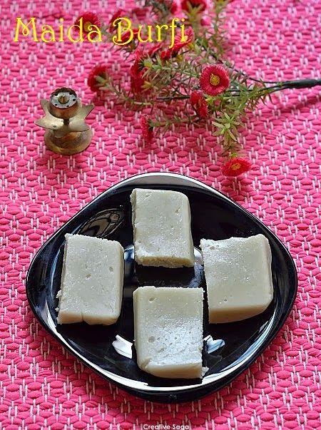 Maida burfi recipe- how to make fudge with plain flour - Easy diwali sweets recipes
