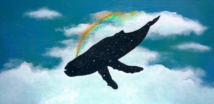 Creatrice di arcobaleni, acrilyc on canvas, 40x60, 2016