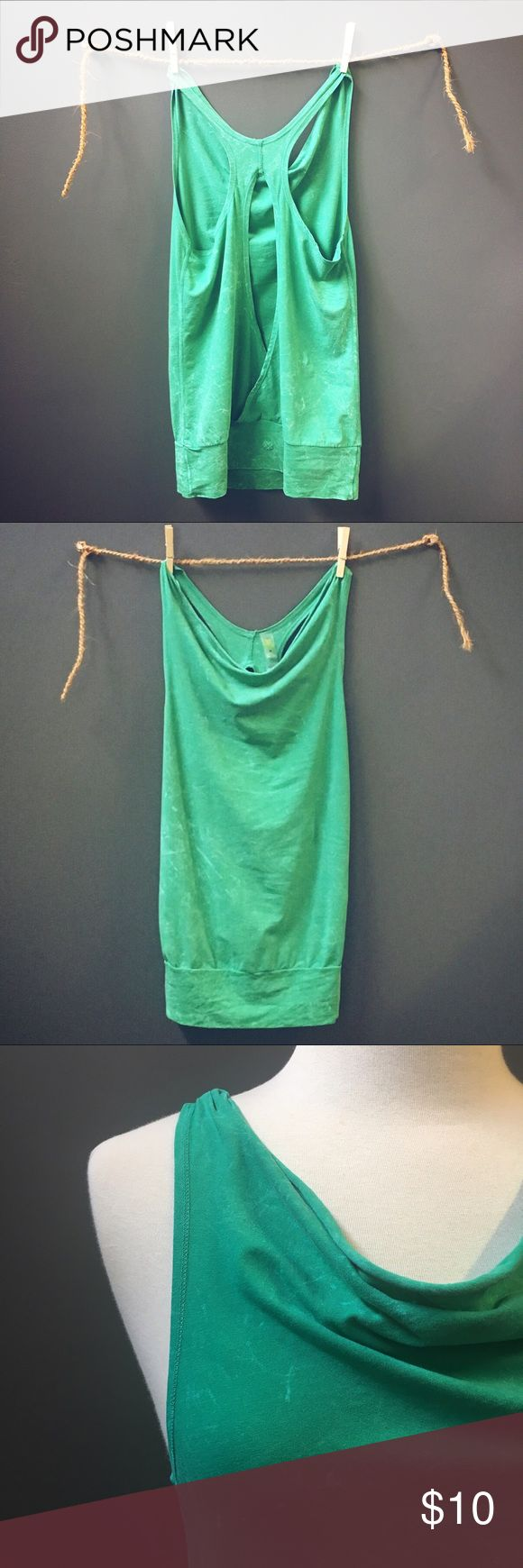 Keyhole Tank Exercise Top Stretch Knit Keyhole exercise tank top. Bright green burnout color. 92% cotton 8% elastane. Tag reads:  Anue Size M. Never worn. Tops Tank Tops