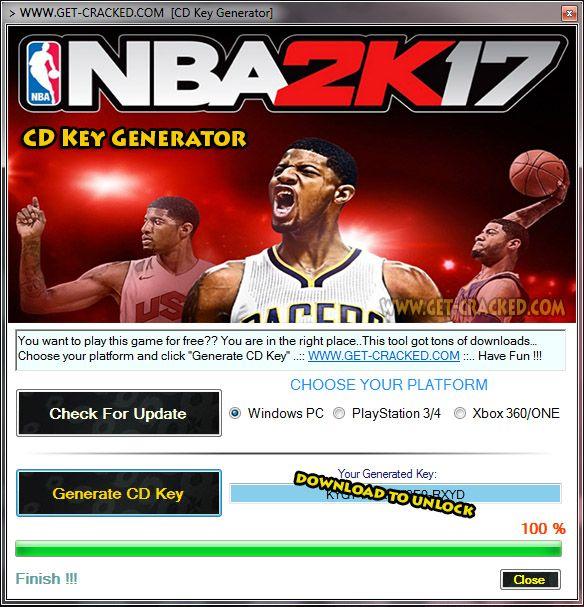 nba 2k17 download key
