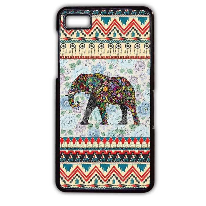 Aztec Elephant Vintage Floral Phonecase Cover Case For Blackberry Q10 Blackberry Z10