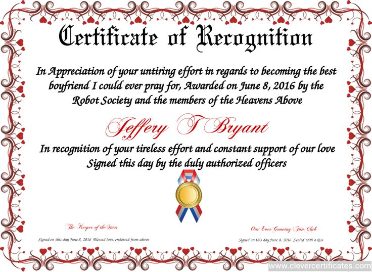 certificate of recognition  free certificate templates
