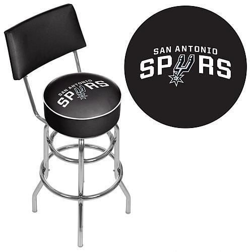 Trademark Global, Inc. San Antonio Spurs Padded Swivel Bar Stool with Back