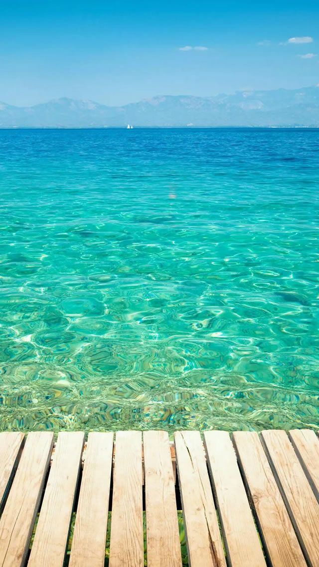 Clear Tropical Ocean Water Lockscreen #iPhone #5s #Wallpaper